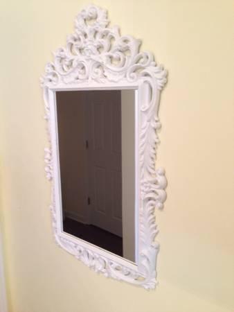 White Ornate Mirror     $30     View on Craigslist