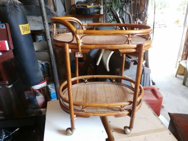 Bamboo Cart     $30   I love this little cart - would be a perfect bar cart. Could use as is or paint it. Found an identical one on One Kings Lane that retailed for $1279.    See on Pinterest      View on Craigslist
