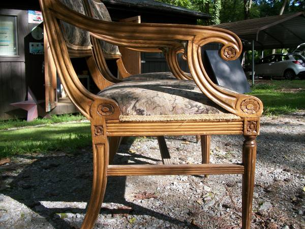 Set of Four Chairs     $100   These are really pretty chairs, just need to be reupholstered.    View on Craigslist