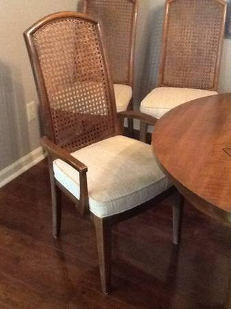 Set of 4 Cane Back Dining Chairs     $80   I love the look of painted cane back chairs.    See on Pinterest      View on Craigslist