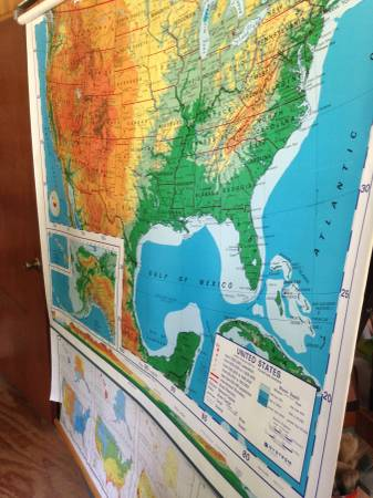 Vintage Pull Down Map     $100     View on Craigslist