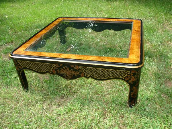 Vintage Drexel Coffee Table     $185   This is very similar to the chinoiserie coffee table I posted last week. And the same table was for sale on One Kings Lane for $675.    See on Pinterest      View on Craigslist