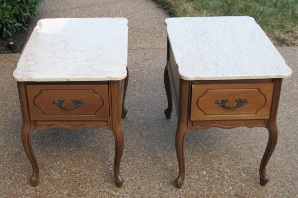 Pair of Marble Top Tables     $100     View on Craigslist