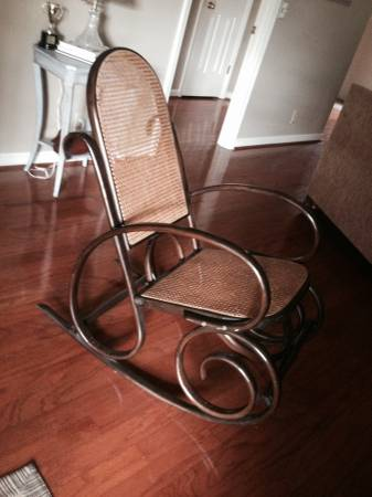 Bentwood Rocking Chair     $25   This is a good deal and would look good as is or painted. Could be a fun addition to a nursery.    View on Craigslist