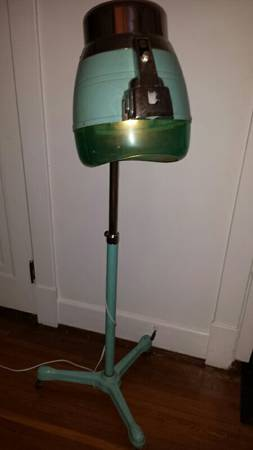 Vintage Hairdryer Lamp     $225   This is a unique piece. It is a vintage beauty shop hair dryer that has been converted into a floor lamp.    View on Craigslist