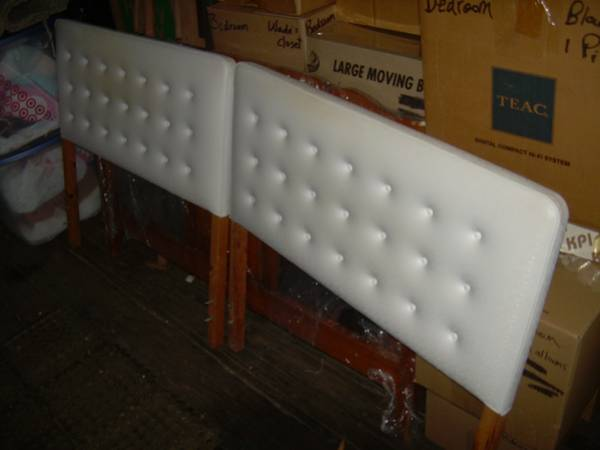 Pair of White Tufted Twin Headboards     $40     View on Craigslist