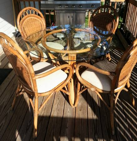 Wicker/Rattan Table and Chairs     $170     View on Craigslist
