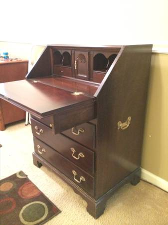 Secretary Desk     $100   This desk would be perfect for a small space and would look great with a coat of paint.     View on Craigslist