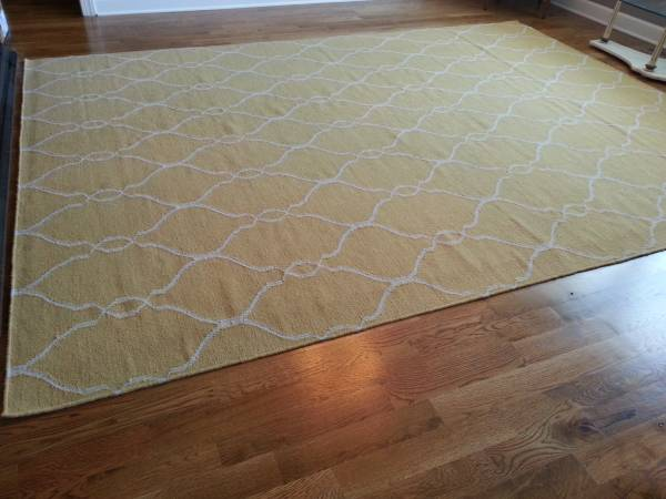 8' x 11' Wool Rug     $300   This rug is from Home Decorators and retails for $479.    View on Craigslist