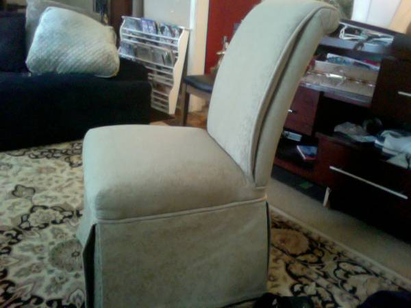 Custom Parsons Chairs     $30 each   There are eight chairs available.    View on Craigslist