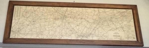 Framed TN Highway Map     $100     View on Craigslist