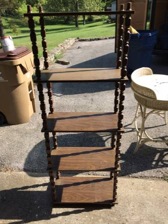 5 Tier Shelf     $15   I think this shelf would look great painted.    View on Craigslist