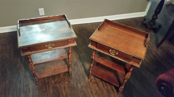 Pair of Antique End Tables     $100     View on Craigslist