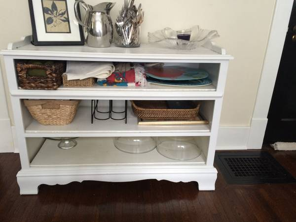 Converted Dresser  /Buffet     $50   This piece could be used as a TV stand or even a changing table.    View on Craigslist