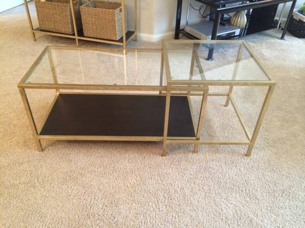 IKEA Nesting Tables     $30   Seller has spray painted these gold, which I love - these make a great inexpensive coffee table.     View on Craigslist