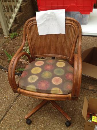 Set of 4 Rattan Chairs     $75     View on Craigslist