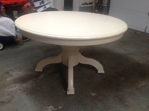 Pedestal Table with Leaf     $65     View on Craigslist