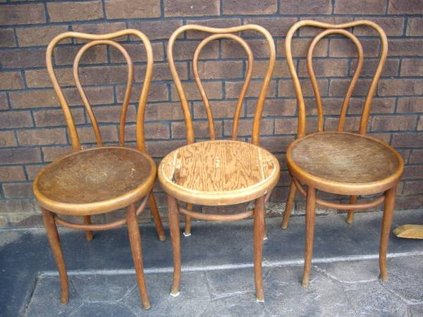 Bentwood Chairs     $15 each     View on Craigslist