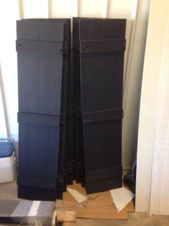Board and Batten Shutters     $100   This is for 4 pair of shutters - this is a great deal!    View on Craigslist