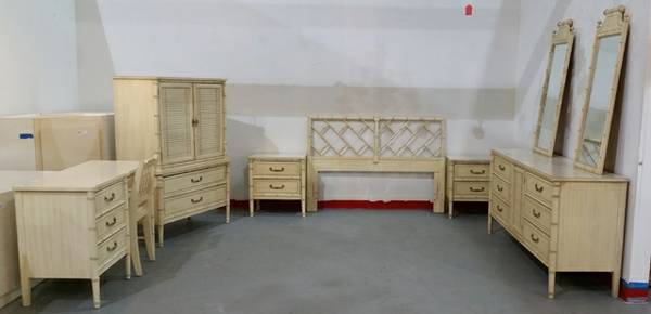 Faux Bamboo Bedroom Set     $1395     View on Craigslist