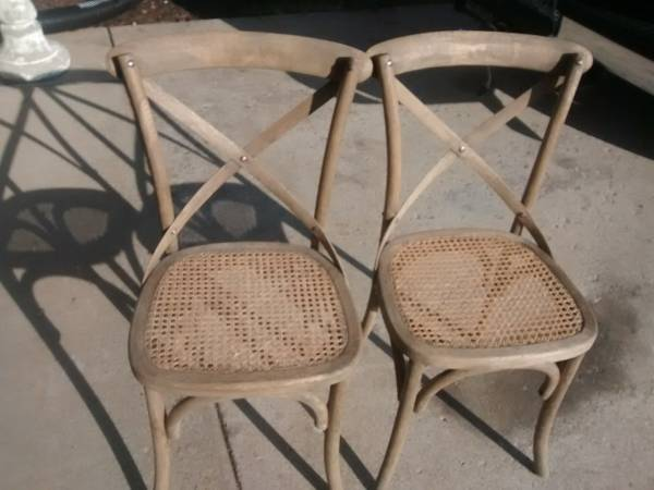 Pair of Chairs     $25   I'm assuming that this is $25 for the pair but could be $25 each - either way they are a good price.    View on Craigslist