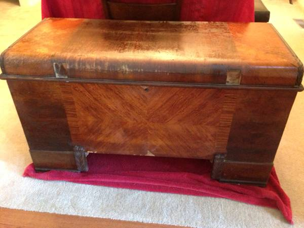 Vintage Cedar Chest     $95   You could use this as a coffee table or it could go at the end of a bed.    View on Craigslist