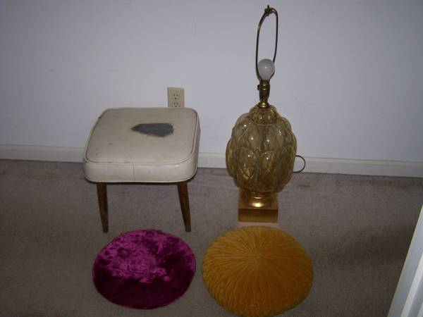 Vintage Lamp and Stool     $20   I really like the stool and the lamp - the stool would need to be reupholstered.    View on Craigslist    View on Craigslist