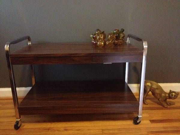 Vintage TV Cart     $25   This is a really versatile piece - could be used as an end table or nightstand.    View on Craigslist