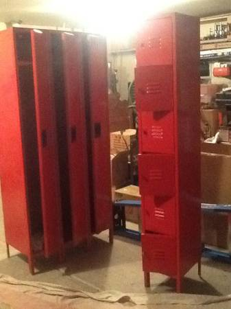 Metal Lockers     $225   The larger set is $225 and the smaller set is $175.    View on Craigslist