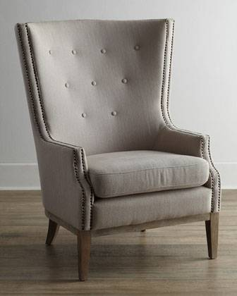 Horchow Linen Wing Chair     $425     View on Craigslist