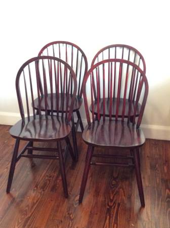 Set of Four Chairs     $100   You could use these chairs as is or give them a coat of paint.    View on Craigslist