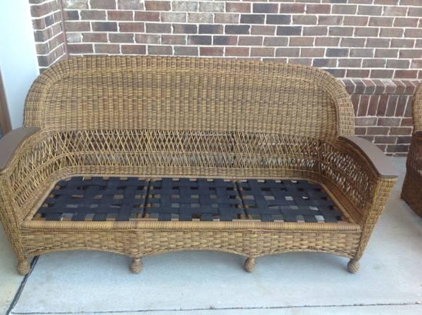 Woven Rattan Patio Sofa     $115     View on Craigslist