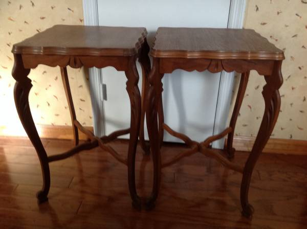 Pair of Walnut Tables     $100     View on Craigslist