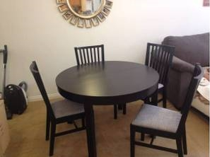 IKEA Kitchen Table and Chairs     $30   This is a great deal - would be the perfect set for a college student or someone just starting out.    View on Craigslist
