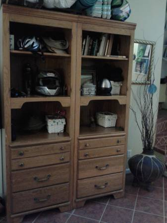 Pair of Maple Bookshelves     $85   These would look great painted.    View on Craigslist