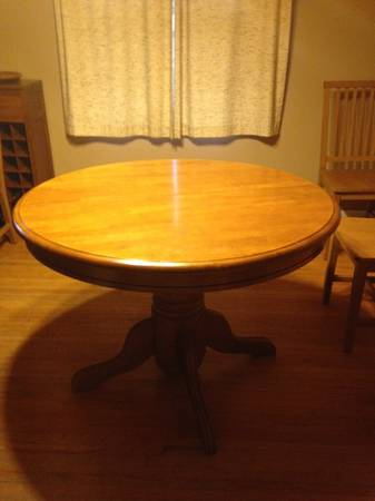 Pedestal Table with Leaf     $100     View on Craigslist