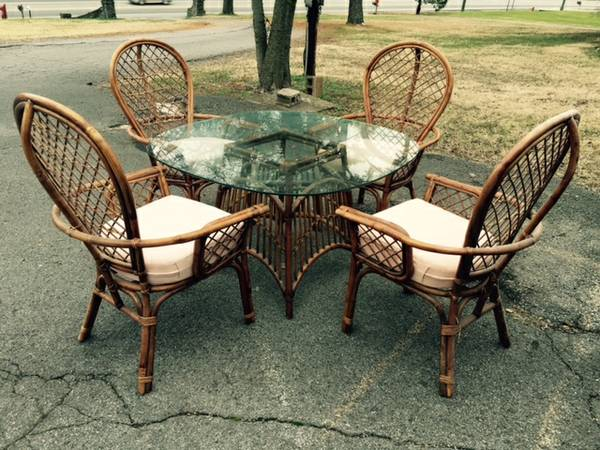 Bamboo Table and Chairs     $329     View on Craigslist