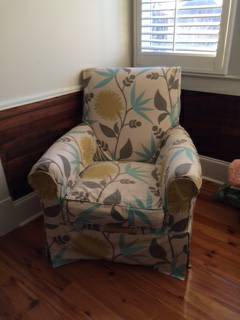 Pair of Club Chairs     $200   These chairs have interchangeable covers.    View on Craigslist