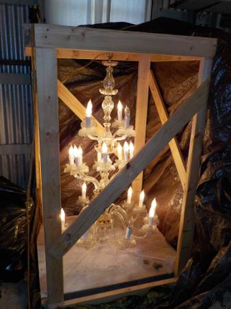 Glass and Brass Chandelier     $200     View on Craigslist