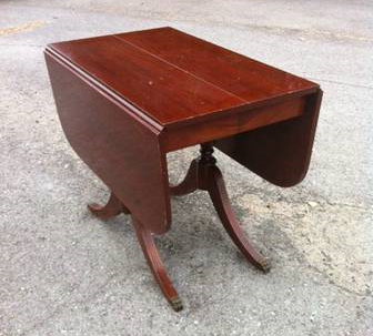 Antique Drop Leaf Table     $75   This would be a great piece to paint.     View on Craigslist