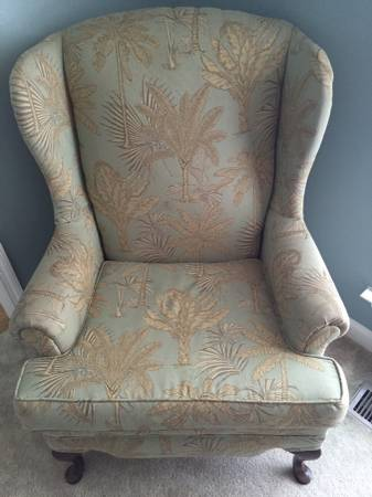 Wingback Chair     $50     View on Craigslist