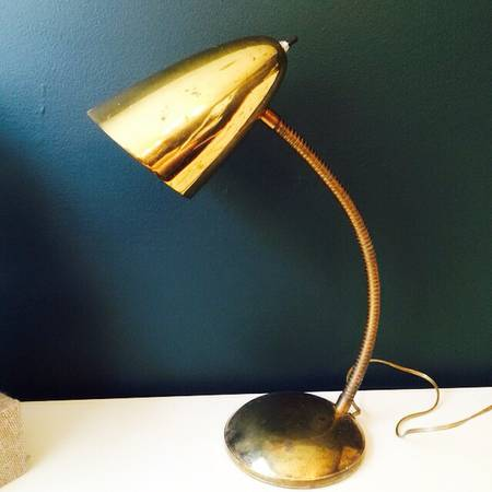 Vintage Brass Desk Lamp     $20     View on Craigslist