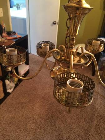Vintage Brass Chandelier     $20     View on Craigslist