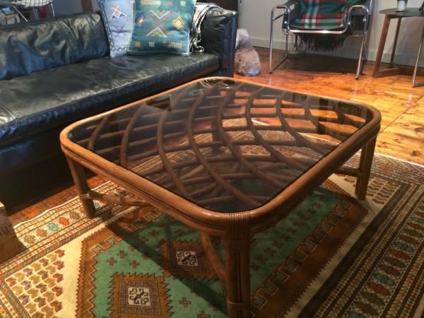 Vintage Rattan Coffee Table     $80     View on Craigslist
