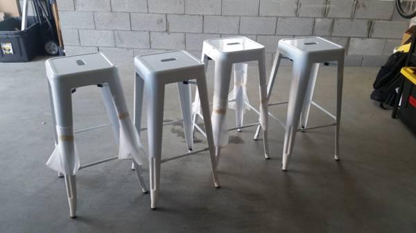 Set of 4 Metal Stools     $100     View on Craigslist