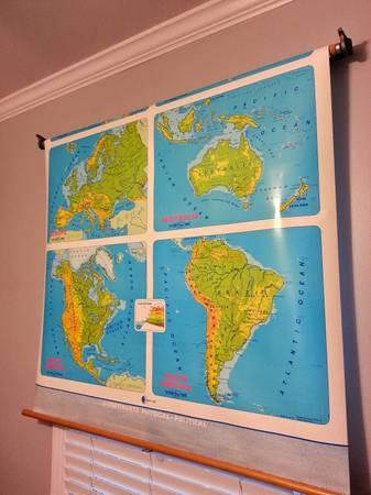 Vintage Classroom Map     $125     View on Craigslist