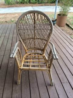 Rattan Balloon Back Chair     $15     View on Craigslist