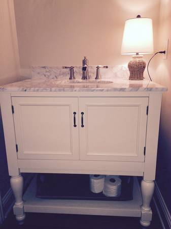 New Pottery Barn Vanity     $1100   This retails for $1500.    View on Craigslist
