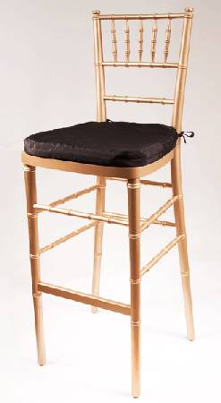 Gold Chiavari Bar Stools     $40 each   There are 16 available - use as is or spray paint them another color.    See on Pinterest      View on Craigslist