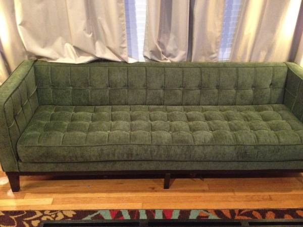 Tufted Mid Century Style Sofa     $599   This sofa is a few months old and retails for $1399.    View on Craigslist